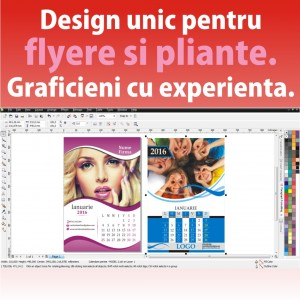 Design modele flyere pliante ieftine voluntari