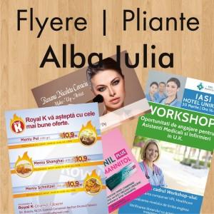 Flyere ieftine pliante Alba Iulia