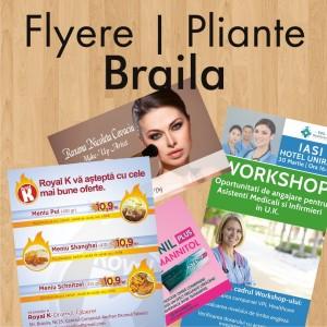 Flyere ieftine pliante Braila