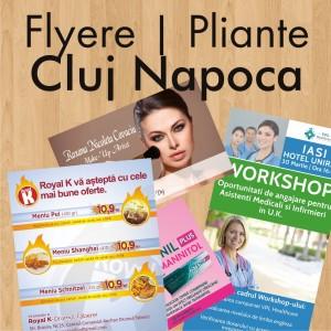 Flyere ieftine pliante Cluj Napoca