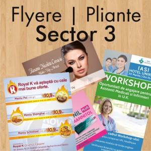 Flyere ieftine pliante Sector 3