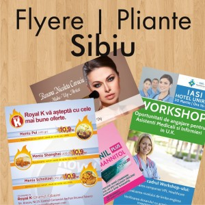 Flyere ieftine pliante Sibiu
