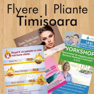 Flyere ieftine pliante Timisoara