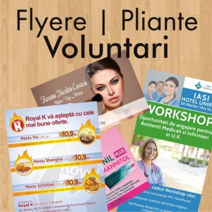 Flyere ieftine pliante Voluntari