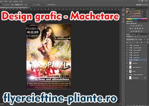 Machetare-design flyere, pliante, muzica, dj, formatii muzicale