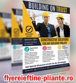 flyere pliante constructii, ingineri, constructori, case, vile, arhitect