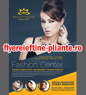 flyere pliante cosmetica, coafor, salon infrumusetare, hair stylist, make up artist