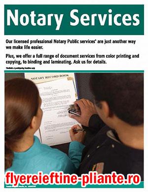 flyere pliante notari publici, cabinete notariale