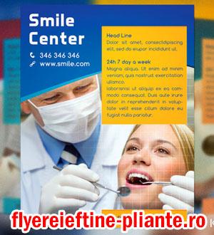 flyere si pliante cabinet stomatologic, doctor medic stomatolog, dentist, stomatologie