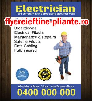flyere si pliante electrician, electrica, electricitate
