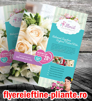 flyere si pliante florarie, ornamente florale, plante, design floral