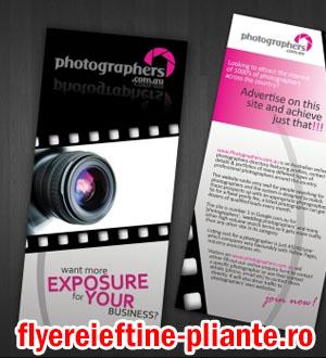 flyere si pliante fotograf, fotografie, filmari, foto video, nunti, botezuri
