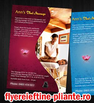 flyere si pliante masaj, tehnician maseur, masaj anticelulitic, terapeutic