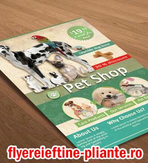flyere si pliante pet shop, magazin animale, caini, pisici, petshop