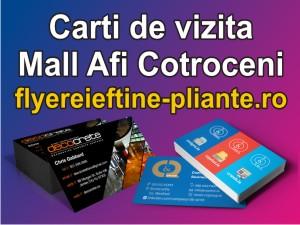 Carti de vizita Mall Afi Cotroceni-flyereieftine-pliante.ro