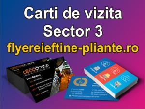 Carti de vizita Sector 3-flyereieftine-pliante.ro