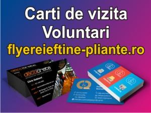 Carti de vizita Voluntari-flyereieftine-pliante.ro